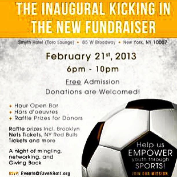 Feb 21st, support a great cause #NYC #NIGERIA  Check out GiveABall.org for more information!