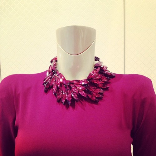 Gucci fuchsia gorgeousness, snapped by Maria Duenas Jacobs.