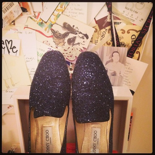 Wonder what happens if we click our Jimmy Choo flats together… #tcrealtalk