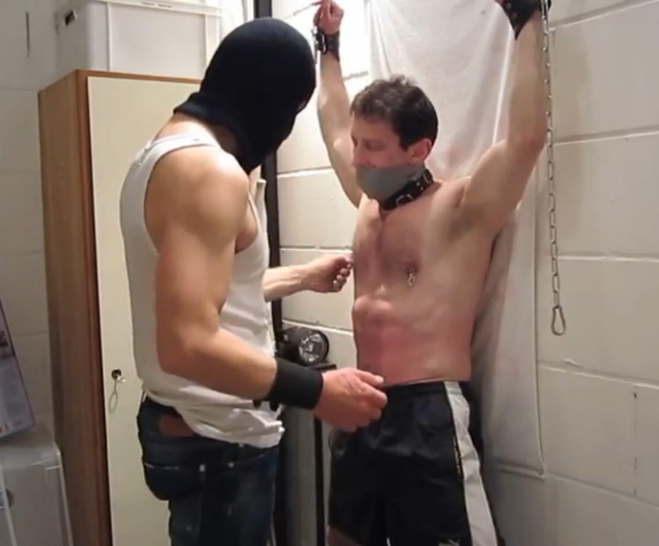 Male gut punching