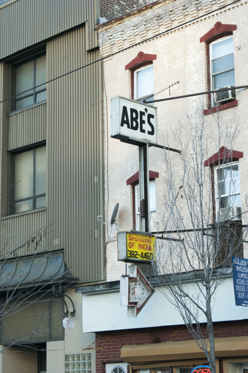 Abe's & Shingar of India, 40th st near Market, West Philly Thought this was a neat little set of signs.