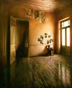2headedsnake:  Tasos Chonias 'Interior' oil on canvas