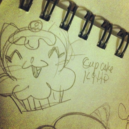 #sketchycatfight @mattroxart #cupcake #kitty #kawaii #cute #funny #illustration
