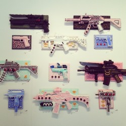 Rad mixed media pieces that look like cakes by Scott Hove. (at Festival Pavilion)