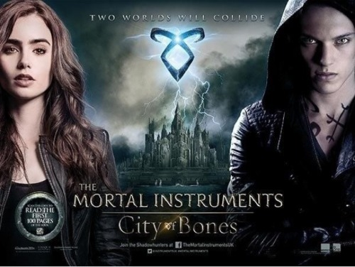 cassandraclare:  The new UK Mortal Instruments: City of Bones movie poster! Pretty! You can see the bigger version on UK MSN Movies.