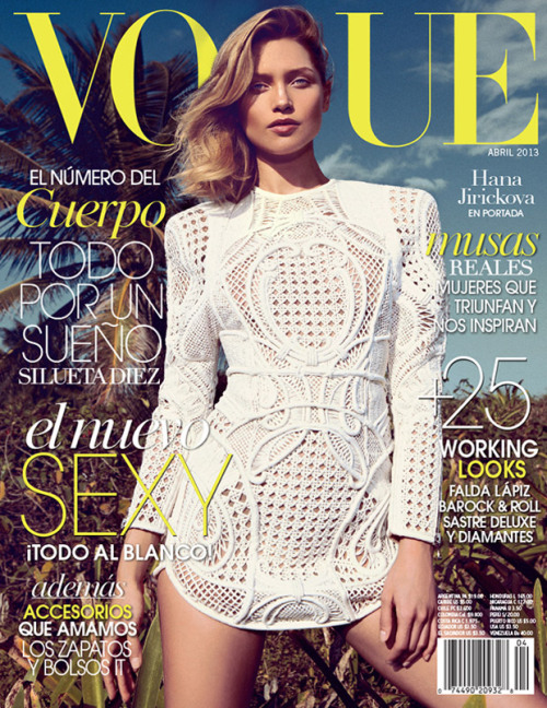 Vogue Latin America, April 2013, cover (+) photographer: Koray Birand Hana Jirickova in Balmain, Spring 2013 Ready-to-Wear