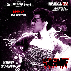 I'm live this Friday on BREAL.TV tune in!