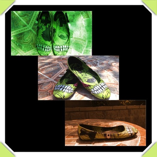houseofmaven:  We heart Zombie shoes! #psychobilly #psycho #zombie #shoe #shoes #houseofmaven #punk #punkrock