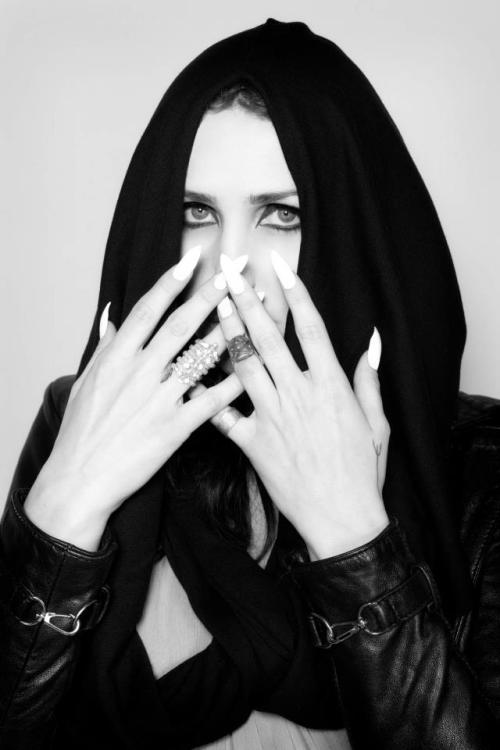 skinny-witch:  coniferousfashion:  Chelsea Wolfe in Ovate.  Photo by Kristin Cofer.  my gorgeous, sister.
