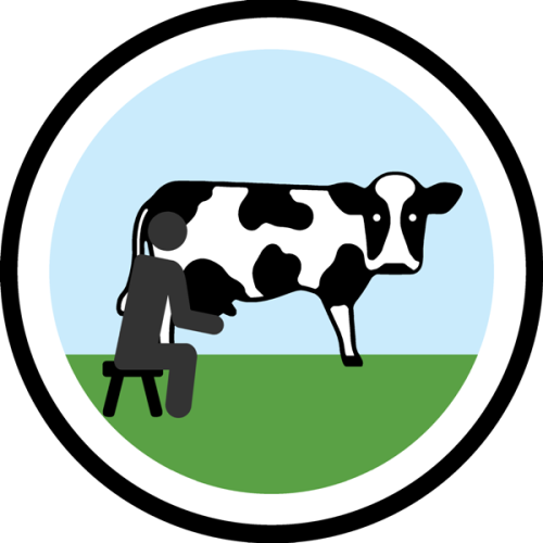 lifescouts:  Lifescouts: Cow-Milking Badge If you have this badge, reblog it and share your story! Look through the notes to read other people's stories. Click here to buy this badge physically (ships worldwide). Lifescouts is a badge-collecting community of people who share real-world experiences online.  so im not sure if i've milked a cow but i've definitely milked a goat. My Aunt had a farm in Ireland she didn't milk the cows only the goats.