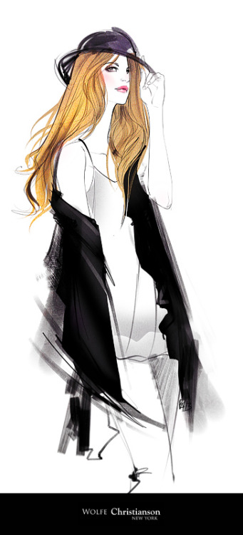 ieatcoffee:  fashion illustration forWOLFIE Christiansonbeautiful, strong and feminine.