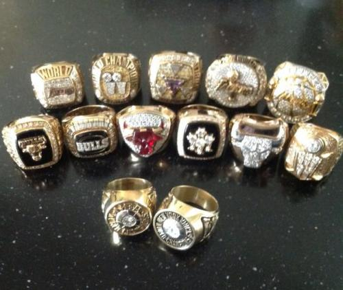 yahoosports:  Phil Jackson @PhilJackson11 tweeted out a photo of his 13 (!) championship rings. We imagine he just dropped his mic after tweeting it.