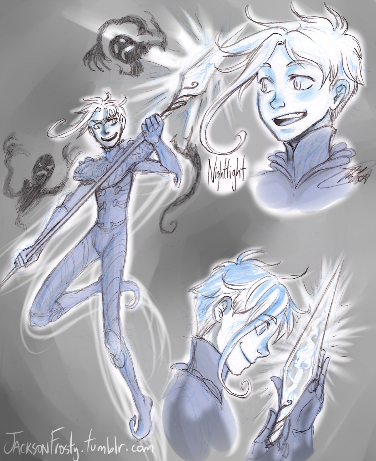 jacksonfrosty:  ((Nightlight sketchdump. I actually drew this a while ago. Decided to slap some monochrome on it then post it.))