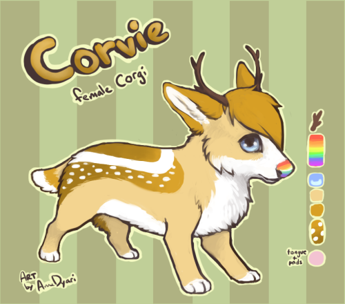 Corvie, the corgi. Commission over FP. ~1hr on SAI