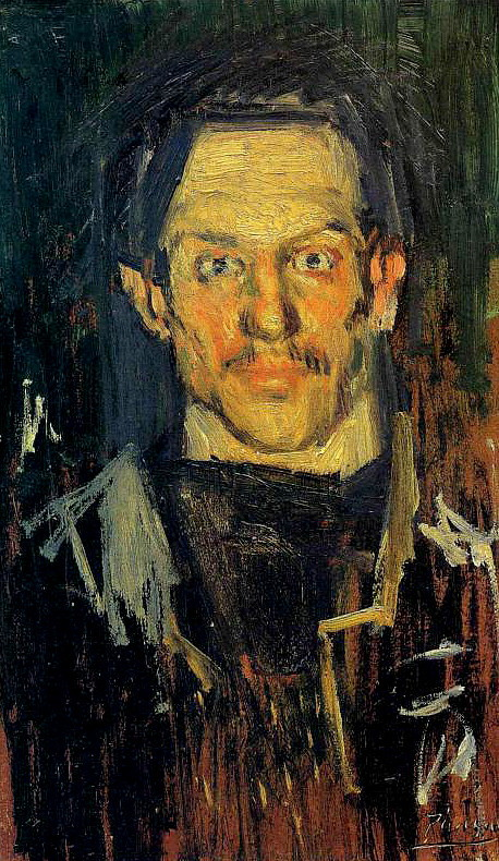 paperimages:  Pablo Picasso, self-portrait, 1901
