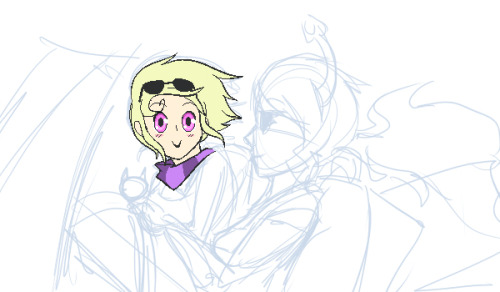 Wip for Las Vegastuck my first spin off. Love Roxy xD <3