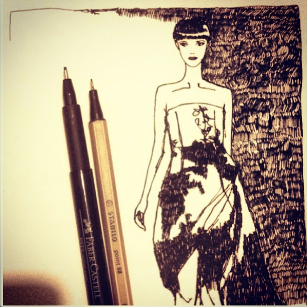 I think i have scribbled enough for today  #fashion #illustration  #sketch #dress #marykatrantzou #mitika #mitikasillustrations #inspiration #drawing #art #blackandwhite #beautiful #ink #mitikachohan #tweegram  #instagood  #love  #iphonesia #photooftheday  #instamoode  #igers #iphoneonly  #iphoneonly  #instagramhub #picoftheday  #jj   #instadaily #bestoftheday  #igdaily @marykatrantzou
