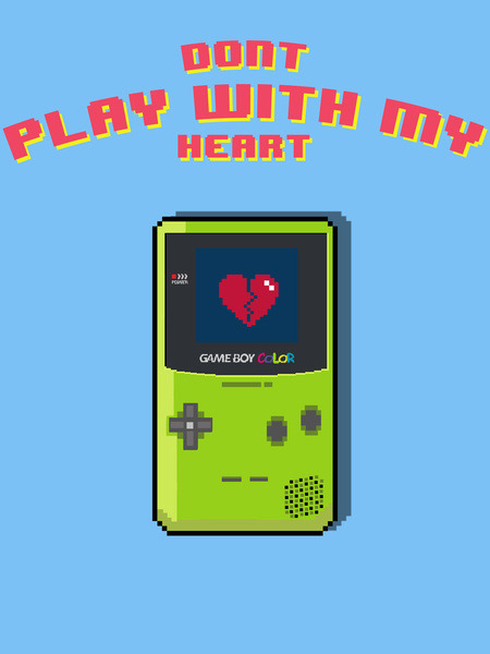 it8bit:  Don't Play With My Heart Prints and shirts available on Society6 Created by Anthony Wallace