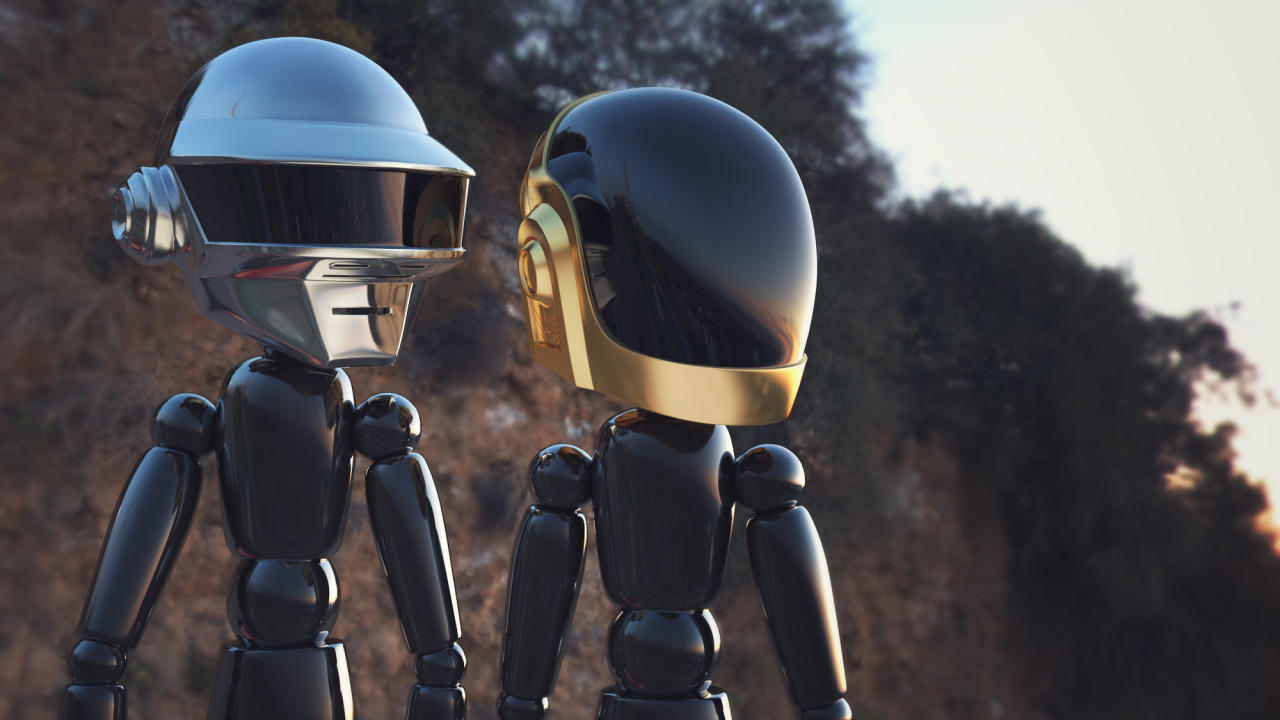 Daft Punk in Cinema 4D! Get the models free at Greyscalegorilla