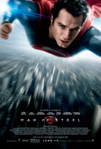 Man of Steel poster.  Cool, eh?