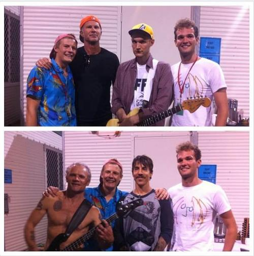 Red Hot Chili Peppers. Backstage at Big Day Out. (Adelaide)