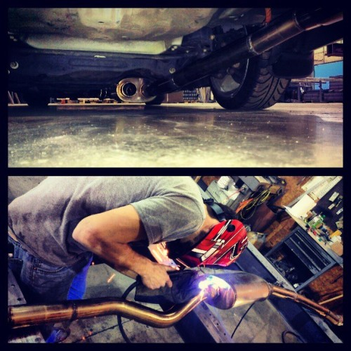 New exhaust, sponsored by James Barnet Exhaust, #Magnaflow #Mufflers, and #BuddyClub #SPECII #Resonator. #Acura #TL #TypeS #UA5 #2G #J32 #Low #Dropped #Dumped #Stance #StanceNation #NextGenPhotos #Autoimports #LowLife #CarLife #CarCulture #LifeStyle #StillHood #S3Mag #TrackOne #Motorsports