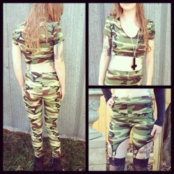 Get your camo on and get invisible to them haters! Crop, garter shorts and leggings all available at www.etsy.com/shops/darkmoonboutique #darkmoonboutique#darkmooncult