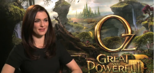 Oz The Great and the Powerful | Rachel Weisz INTERVIEW [VIDEO]