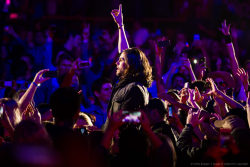 Vocalist/guitarist Jared Leto of 30 Seconds to Mars performs at the KROQ weenie roast y fiesta at the Verizon Wireless Amphitheater on May 18, 2013 in Irvine, California. (HQ)