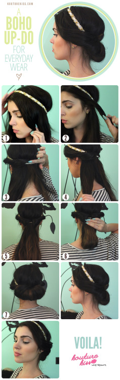 DIY - A Boho Updo tutorial.