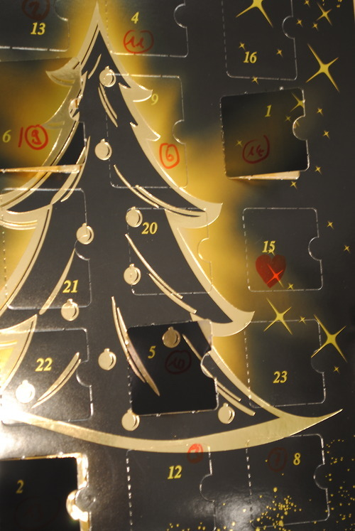 A very special advent calendar… maybe you recognize who it's that special ;) <3