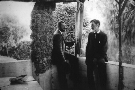 Francis Willey Kelsey in Pompeii, Italy with an artist acquaintance in 1892-1893