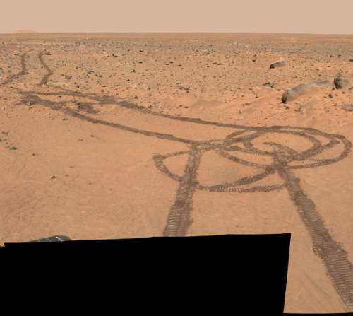 laughingsquid:  NASA's Mars Rover Drew a Penis on the Surface of Mars