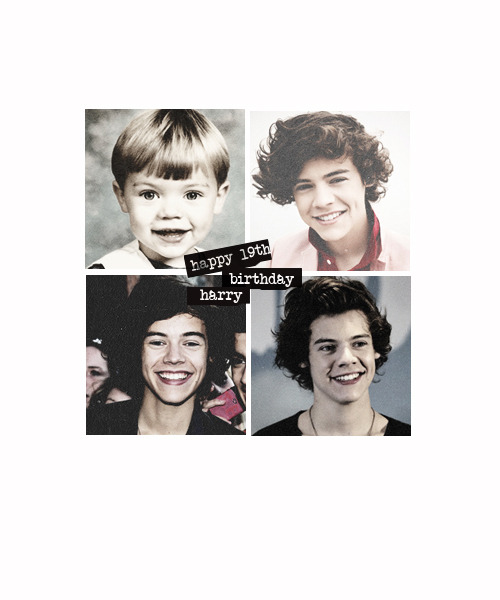 freakinghoran:  happy 19th birthday harry styles