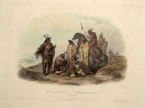 collectivehistory:  Crow Indians ca. 1840-1843 (Library of Congress)