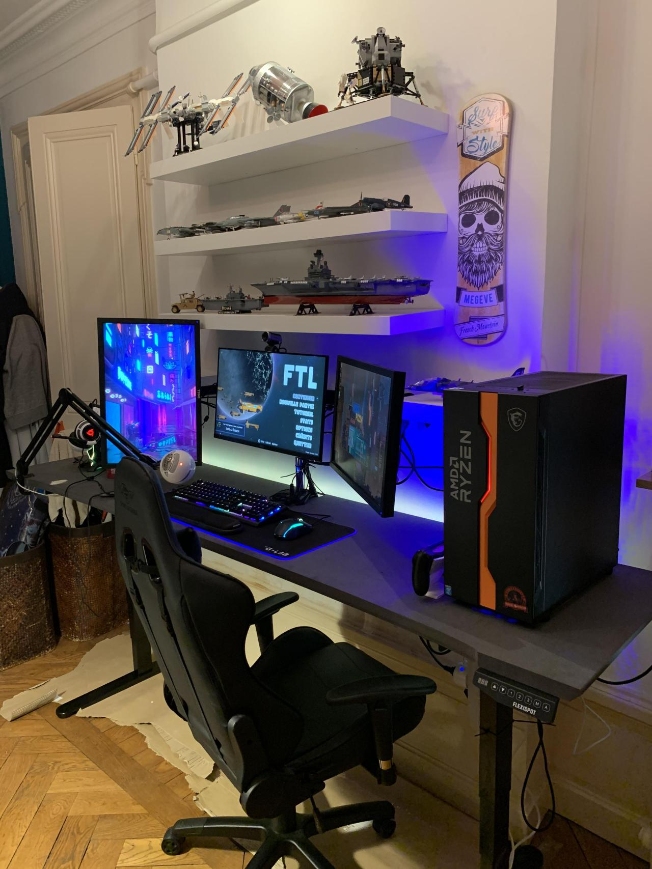 After all these year my dream setup is finally complete! #pcmasterrace#computer#technology#tech#amd#nvidia#intel#gaming#gaming pc#gaming computer#ga