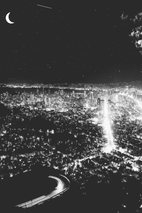City Lights Tumblr Black And White Vertical