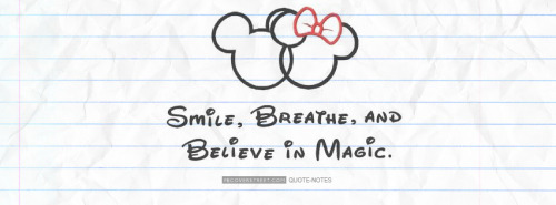 Smile Breathe and Believe In Magic Facebook Cover