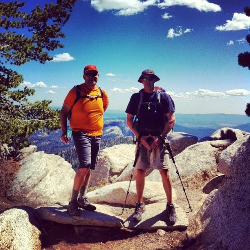 Mike and b at wellman divide. #backpacking #hiking #sanjacinto www.eddyizm.com #nature #gooutside #myfriends #mountains