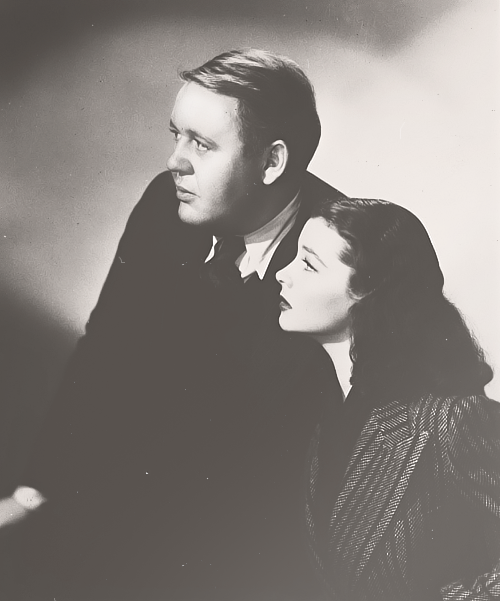 Vivien Leigh and Charles Laughton in Sidewalks of London, 1938.