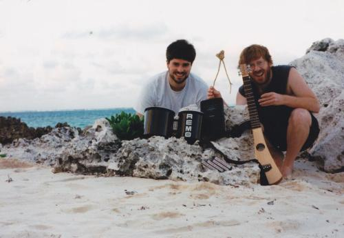 Trey and Tom, Cayman Islands, January 1996 (via TomMarshall111) They wrote nine Billy Breathes songs in this beautiful place.