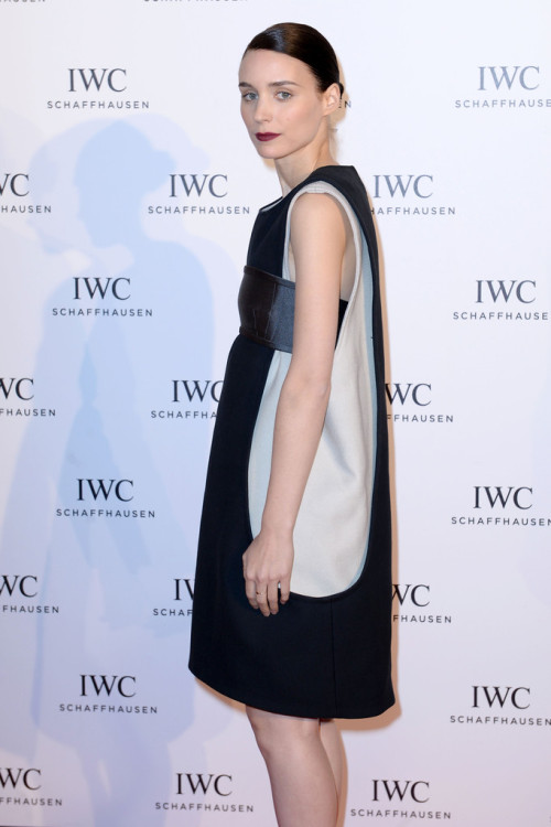 "Rooney Mara attends the exclusive ""For The Love Of Cinema"" event hosted by Swiss luxury watch manufacturer IWC Schaffhausen at the famous Hotel du Cap-Eden-Roc on May 19, 2013 in Antibes, France."