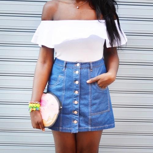 streetstyle stradivarius bershka inspiration denimskirt crazyclutch caritrini camisetavolantes ootd african new asos africanstyle fashionblogger outfitideas4you angolablogger