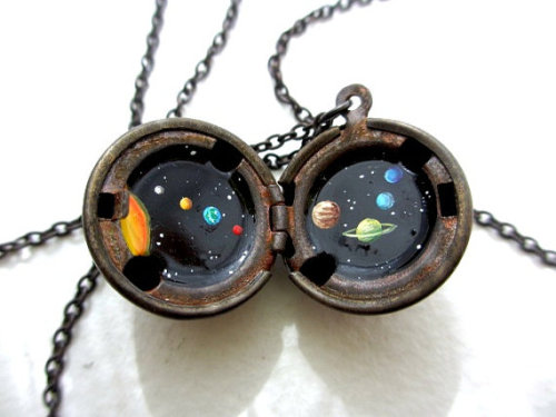 Solar System Necklace sold by kharaledonne $42