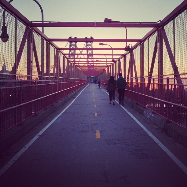 nirav:  A sunset walk, through Williamsburg. (at Williamsburg Bridge)