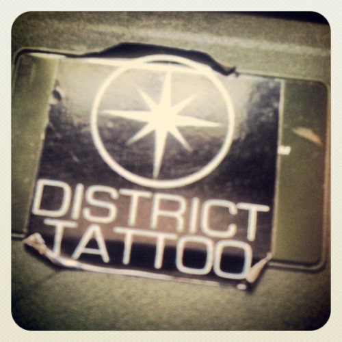 District Tattoo // All pain no regrets. Http://facebook.com/allpainnoregrets
