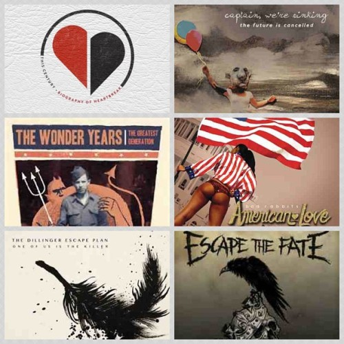 Check out some of today's releases! Biography of Heartbreak @ThisCentury, The Future is Cancelled #CaptainWereSinking, The Greatest Generation @TheWonderYearsBand, American Love @BadRabbits, One of Us is the Killer @DillingerEscapePlan and Ungrateful #EscapeTheFate — Which one(s) are you most excited about!? #altpress