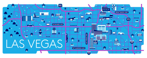 Las Vegas map for Billboard magazine.
