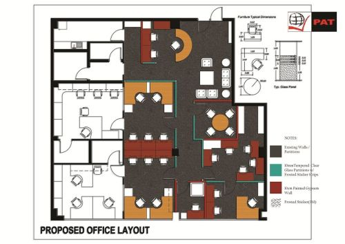 our accounts department final office design layout :-)