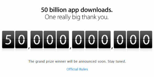 Apple hit 50 billion app downloads.It's official, Apple's app store just hit 50 billion downloads. This comes within the hour of…View Post